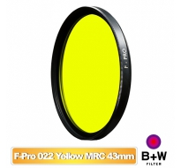 B+W F-Pro 022 43mm MRC Yellow light 495 黑白軟片濾色片 黃色