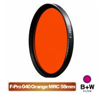 B+W F-Pro 040 58mm MRC Orange light 550 黑白軟片濾色片 橘色